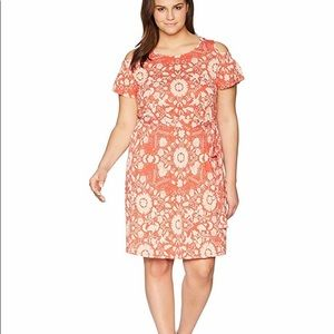 NWT Lucky Brand Floral Cold Shoulder Dress